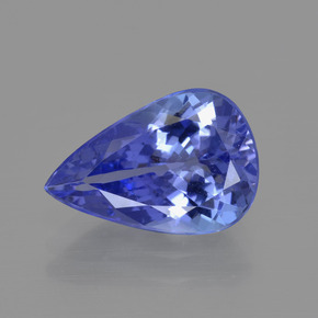 3.1ct Pear Facet Violet Blue Tanzanite Gem (ID: 412463)