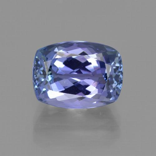 Intense Violet Blue Tanzanite Gem - 4.3ct Cushion-Cut (ID: 412522)