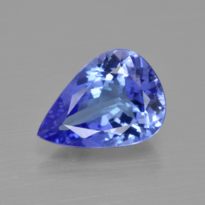 3.10 ct Pear Facet Violet Blue Tanzanite Gemstone 11.72 mm x 8.5 mm (Product ID: 412524)