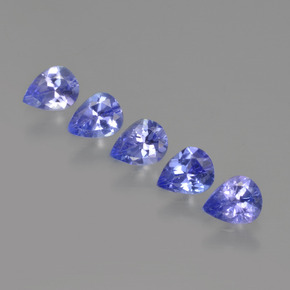0.3ct Pear Facet Intense Violet Blue Tanzanite Gem (ID: 412925)