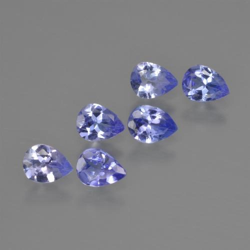 0.3ct Pear Facet Intense Violet Blue Tanzanite Gem (ID: 413079)
