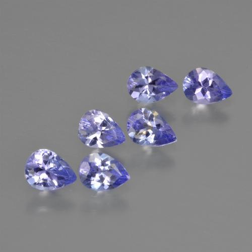 0.3ct Pear Facet Intense Violet Blue Tanzanite Gem (ID: 413080)