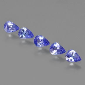0.24 ct Pear Facet Violet Blue Tanzanite Gemstone 4.93 mm x 3.7 mm (Product ID: 413141)