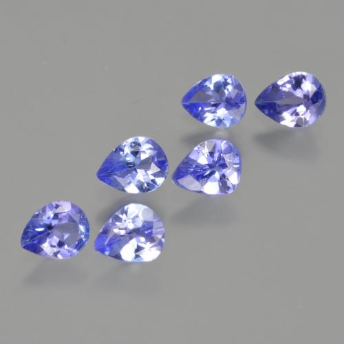 Violet Blue Tanzanite Gem - 0.3ct Pear Facet (ID: 413213)