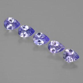 Violet Blue Tanzanite Gem - 0.2ct Pear Facet (ID: 413291)