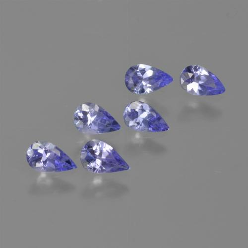thumb image of 0.2ct Pear Facet Violet Blue Tanzanite (ID: 413490)