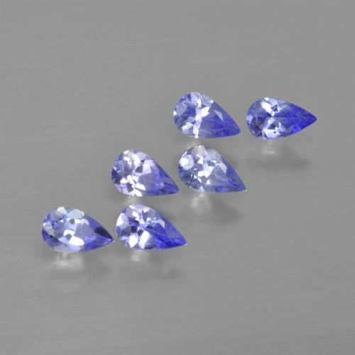 0.2ct Pear Facet Medium Blue Tanzanite Gem (ID: 413496)