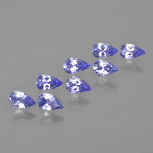 0.2ct Pear Facet Electric Blue Tanzanite Gem (ID: 413537)