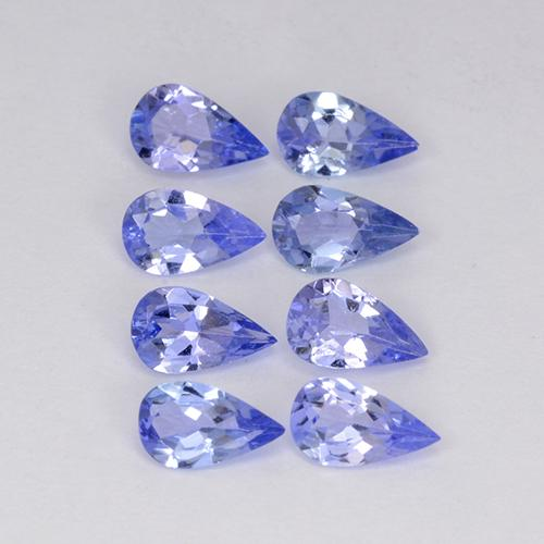 Violet Blue Tanzanite Gem - 0.2ct Pear Facet (ID: 413541)