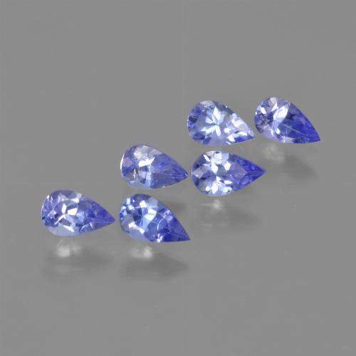 0.2ct Pear Facet Medium Blue Tanzanite Gem (ID: 413629)