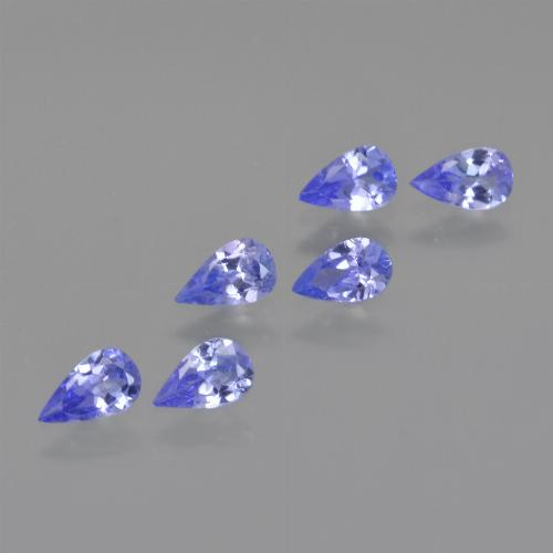 0.2ct Pear Facet Electric Blue Tanzanite Gem (ID: 413799)