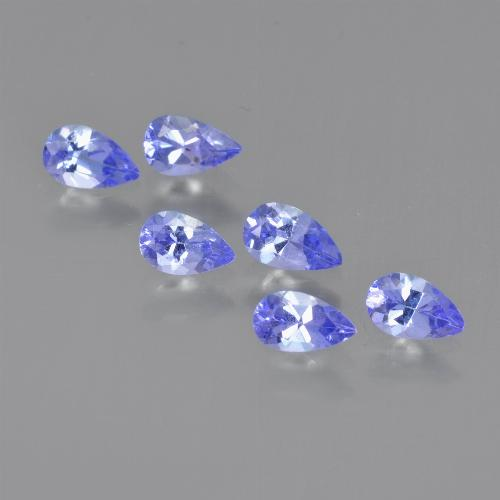 0.2ct Pear Facet Electric Blue Tanzanite Gem (ID: 413802)