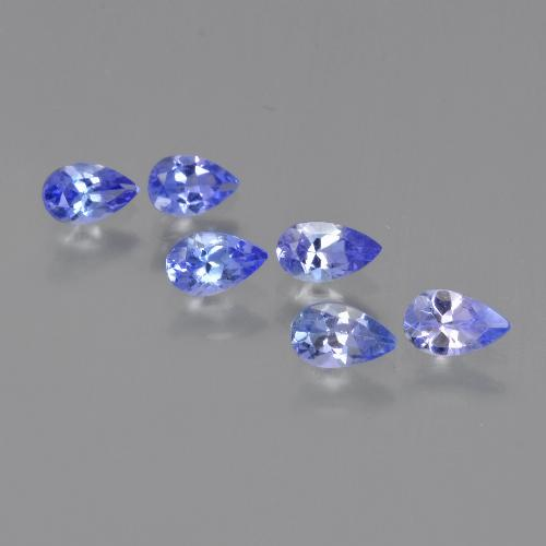 thumb image of 0.2ct Pear Facet Violet Blue Tanzanite (ID: 413804)