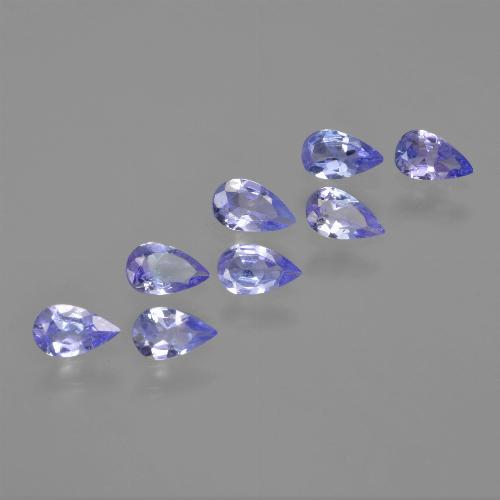 thumb image of 0.2ct Pear Facet Violet Blue Tanzanite (ID: 413928)