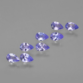 Violet Blue Tanzanite Gem - 0.2ct Pear Facet (ID: 413933)
