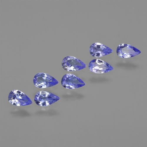 thumb image of 0.2ct Pear Facet Violet Blue Tanzanite (ID: 413934)
