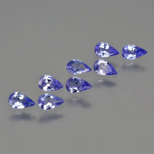 thumb image of 0.2ct Pear Facet Violet Blue Tanzanite (ID: 414332)