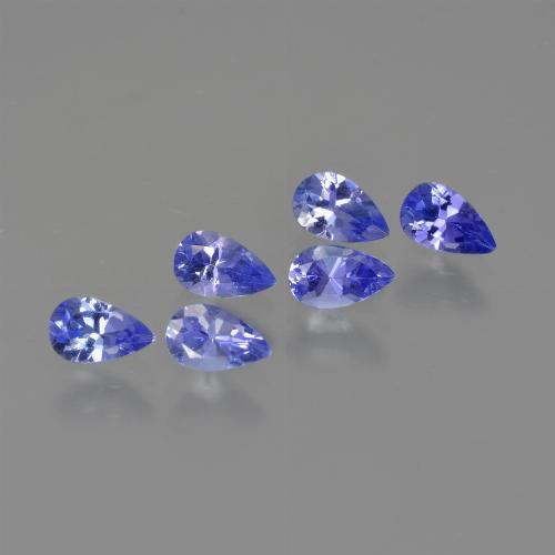 0.3ct Pear Facet Violet Blue Tanzanite Gem (ID: 414471)