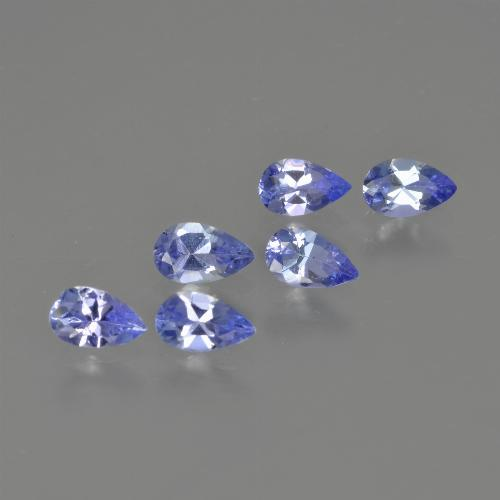 0.2ct Pear Facet Deep Blue Tanzanite Gem (ID: 414476)