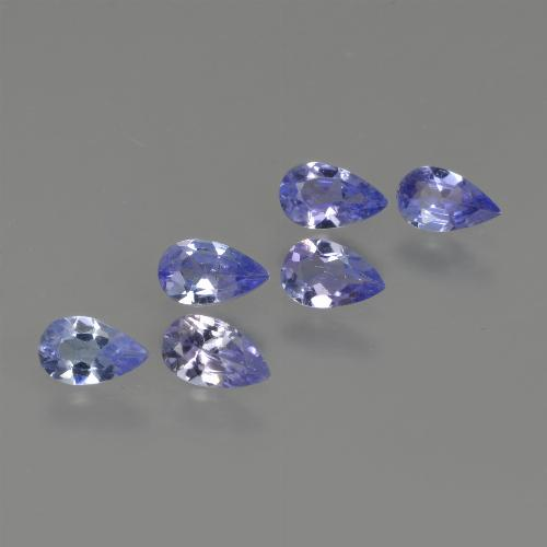 thumb image of 0.2ct Pear Facet Violet Blue Tanzanite (ID: 414479)