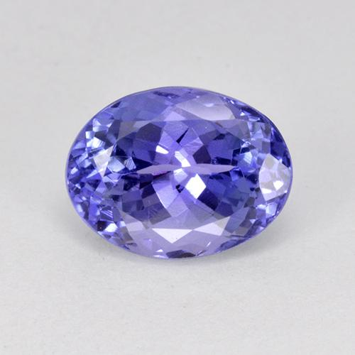 2.80 ct Oval Facet Violet Blue Tanzanite Gemstone 9.36 mm x 7.1 mm (Product ID: 415415)