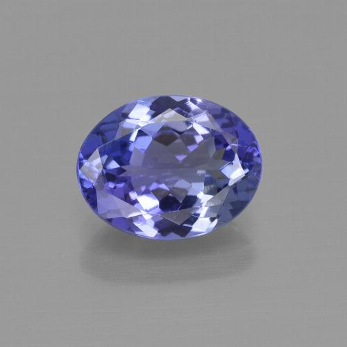 2.28 ct Oval Facet Violet Blue Tanzanite Gemstone 9.69 mm x 7.6 mm (Product ID: 415416)