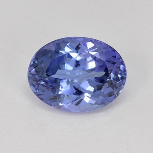 Violet Blue Tanzanite Gem - 2.2ct Oval Facet (ID: 415418)