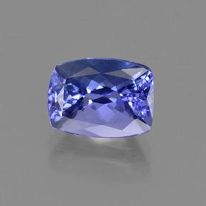 2.51 ct Cushion-Cut Violet Blue Tanzanite Gemstone 9.32 mm x 7 mm (Product ID: 415422)
