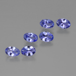 0.4ct Oval Facet Intense Violet Blue Tanzanite Gem (ID: 415664)