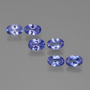 Violet Blue Tanzanite Gem - 0.4ct Oval Facet (ID: 415670)