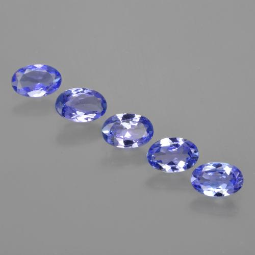 Intense Violet Blue Tanzanite Gem - 0.4ct Oval Facet (ID: 415805)