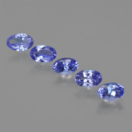 Violet Blue Tanzanite Gem - 0.5ct Oval Facet (ID: 415904)