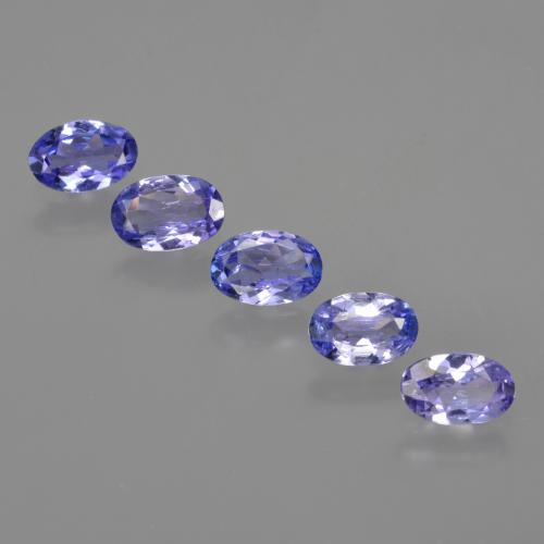 0.4ct Oval Facet Intense Violet Blue Tanzanite Gem (ID: 415906)