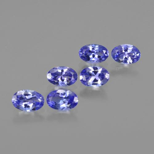 0.5ct Oval Facet Intense Violet Blue Tanzanite Gem (ID: 415914)