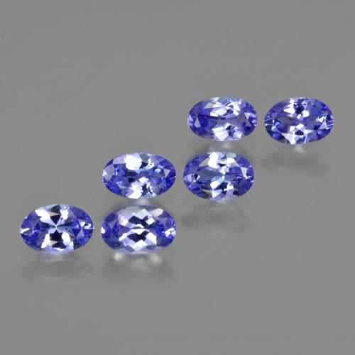 Violet Blue Tanzanite Gem - 0.5ct Oval Facet (ID: 415915)