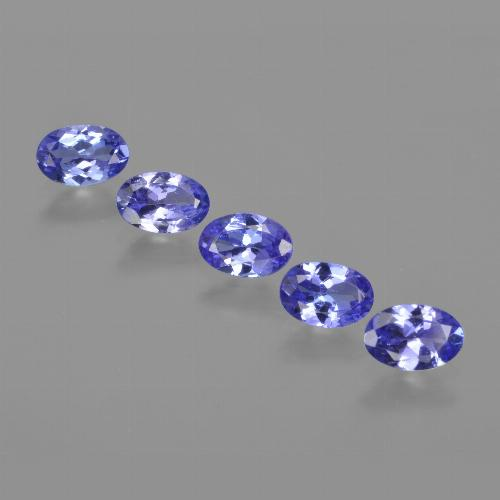 Violet Blue Tanzanite Gem - 0.5ct Oval Facet (ID: 416578)