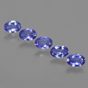 0.6ct Oval Facet Intense Violet Blue Tanzanite Gem (ID: 416580)
