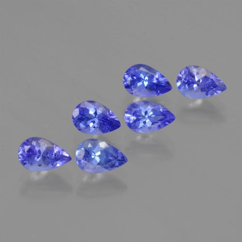 0.5ct Pear Facet Intense Violet Blue Tanzanite Gem (ID: 419527)