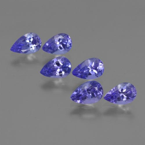 0.4ct Pear Facet Intense Violet Blue Tanzanite Gem (ID: 420099)