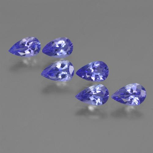 0.4ct Pear Facet Intense Violet Blue Tanzanite Gem (ID: 420101)