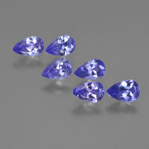 0.4ct Pear Facet Intense Violet Blue Tanzanite Gem (ID: 420102)