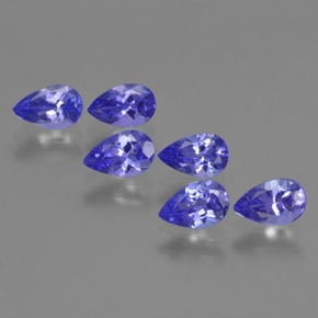 0.4ct Pear Facet Intense Violet Blue Tanzanite Gem (ID: 420104)