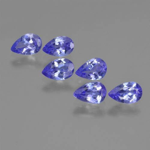 Violet Blue Tanzanite Gem - 0.4ct Pear Facet (ID: 420108)