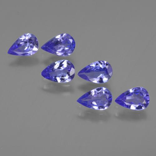 0.4ct Pear Facet Intense Violet Blue Tanzanite Gem (ID: 420110)