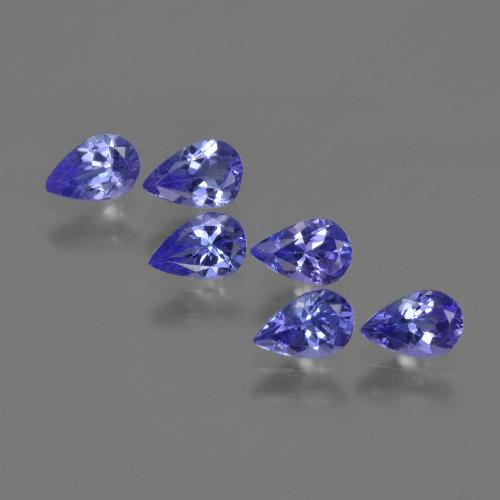 0.4ct Pear Facet Violet Blue Tanzanite Gem (ID: 420219)