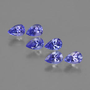 0.4ct Pear Facet Violet Blue Tanzanite Gem (ID: 420221)