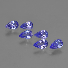 0.3ct Pear Facet Intense Violet Blue Tanzanite Gem (ID: 420222)