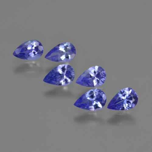 0.4ct Pear Facet Violet Blue Tanzanite Gem (ID: 420223)