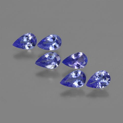 0.4ct Pear Facet Violet Blue Tanzanite Gem (ID: 420225)