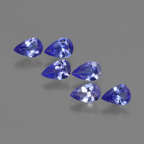 0.4ct Pear Facet Violet Blue Tanzanite Gem (ID: 420226)